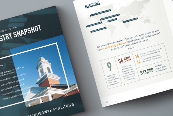Harderwyk Ministries: Ministry Report